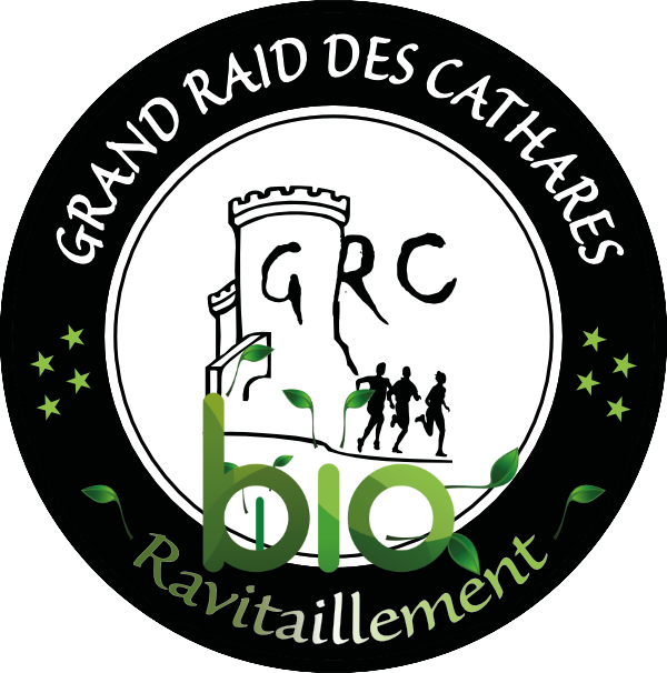 logo pour les ravitaillements du grand raid des cathares en produits locaux et bio